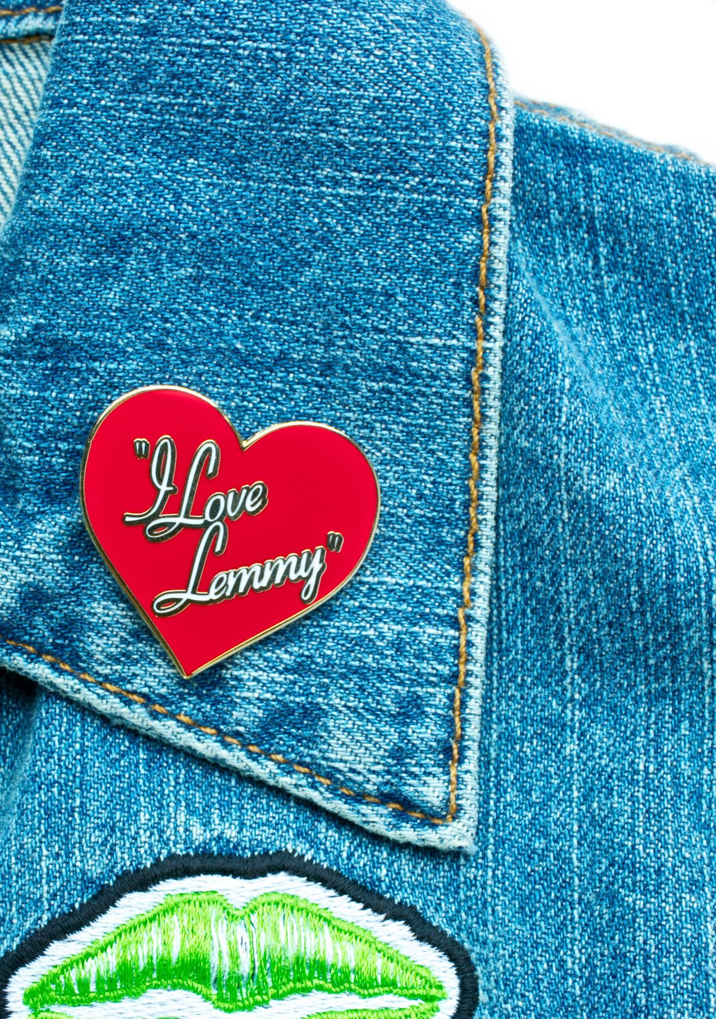 Yvng Pearl I Love Lemmy Pin