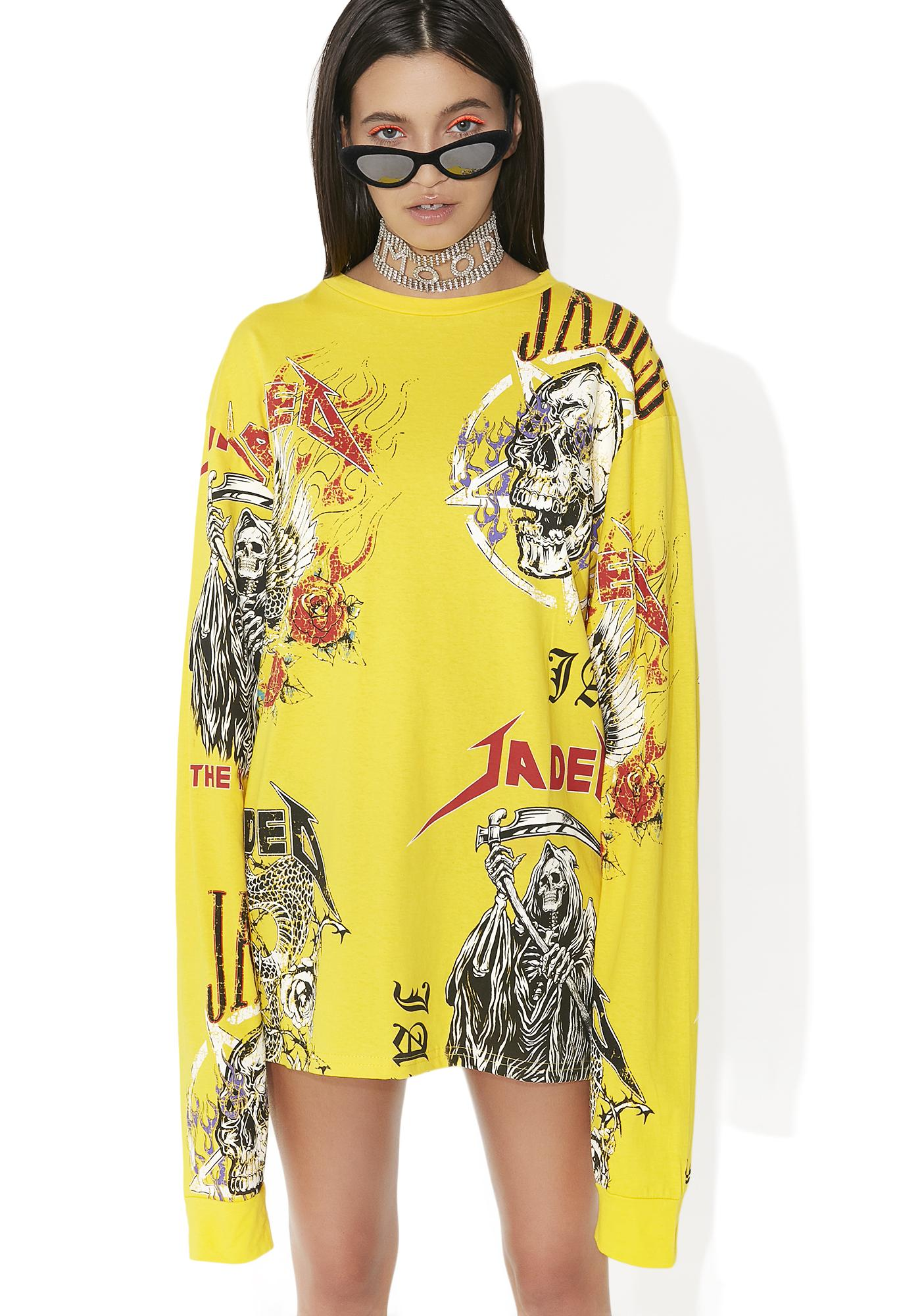 Jaded London Yellow Oversized Patches Top