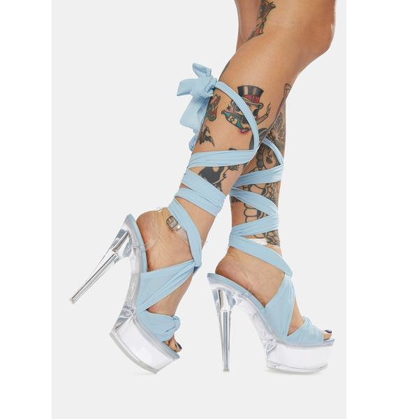 Public Desire Secrets Wraparound Clear Acrylic Heels