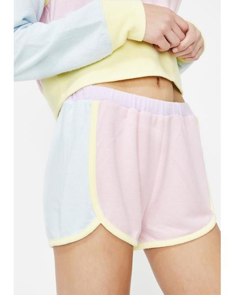 Gelato Skies Fleece Shorts