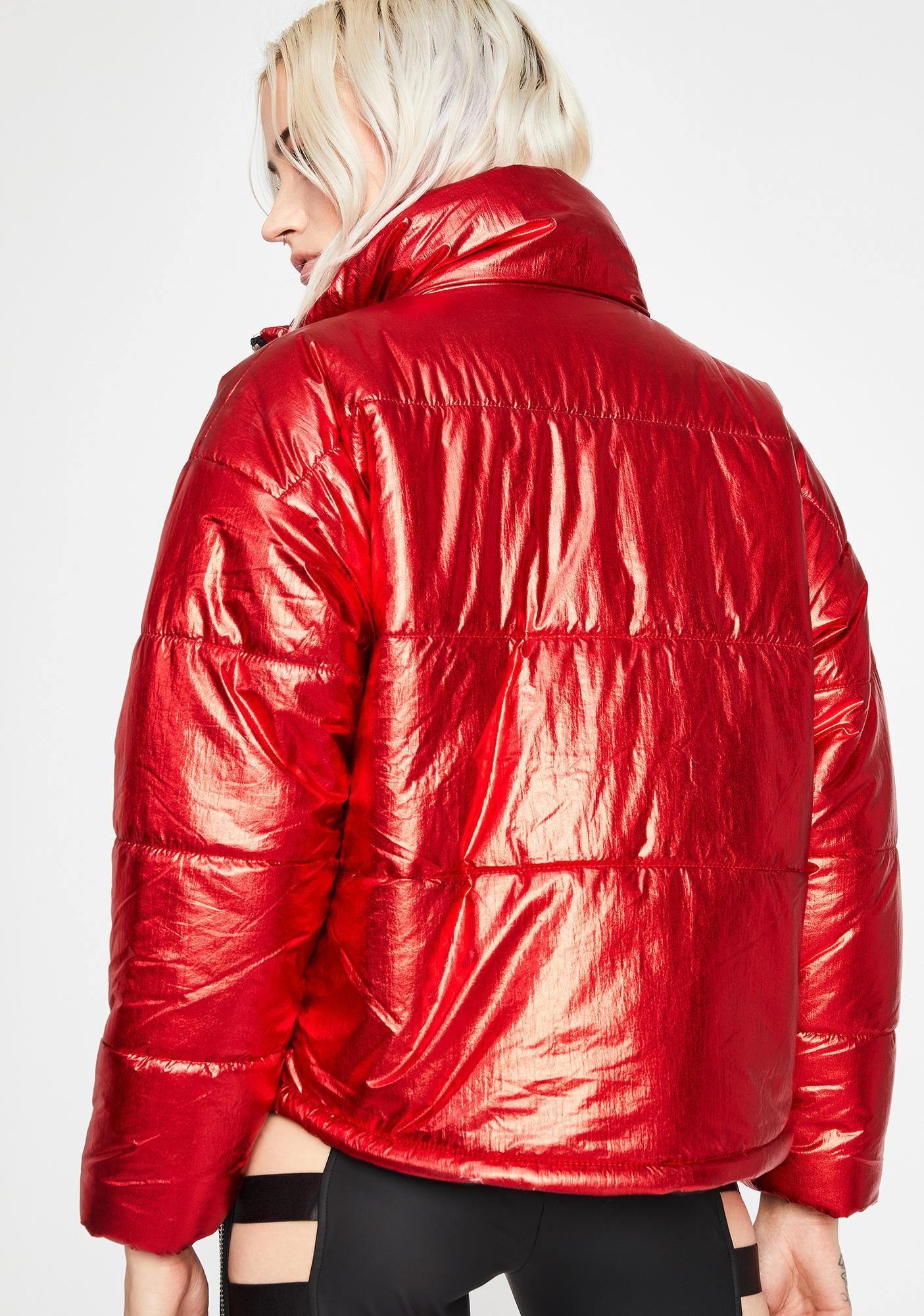 Hypnotic Icon Metallic Puffer Jacket
