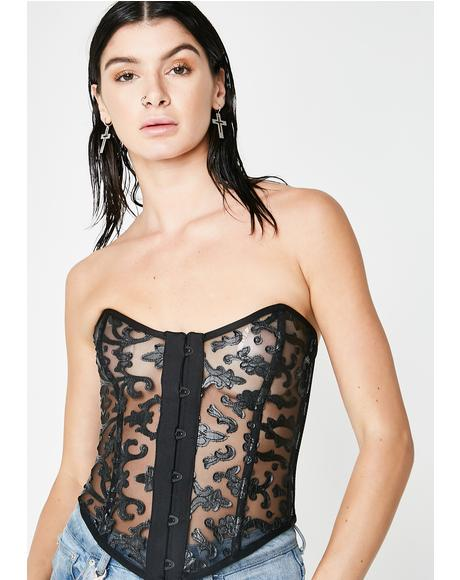 Worship Me Sheer Bustier