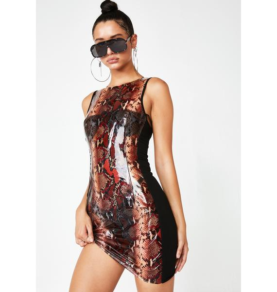I AM GIA Bonnie Snakeskin Dress