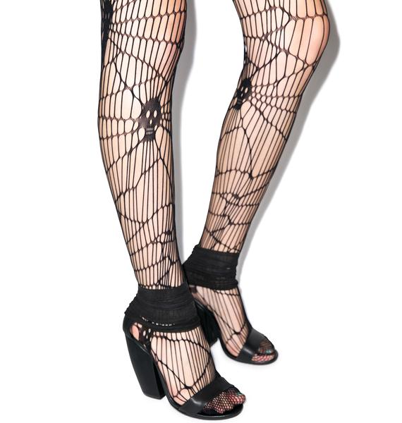 Scary Skull Web Net Pantyhose