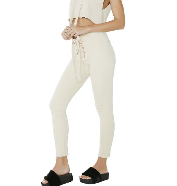 Set The Bar Lace-Up Leggings