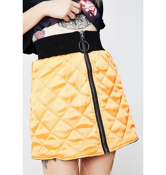 Poster Grl Two Faced Reversible Bomber Skirt