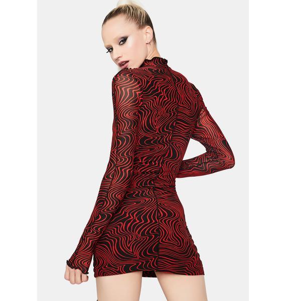 Let's Get Lost Swirl Print Mini Dress