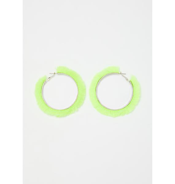 Static Cling Hoop Earrings