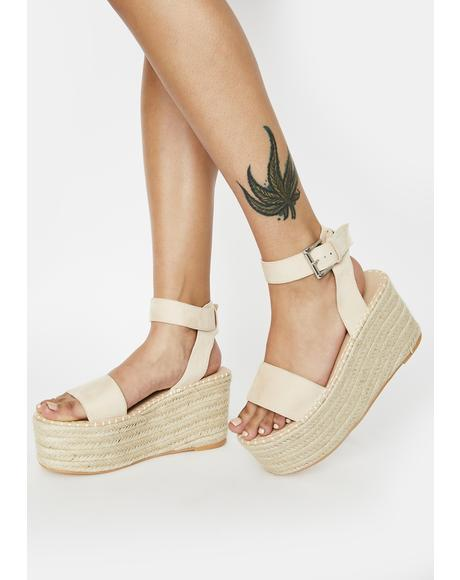 Saffy Espadrille Flatform Sandals