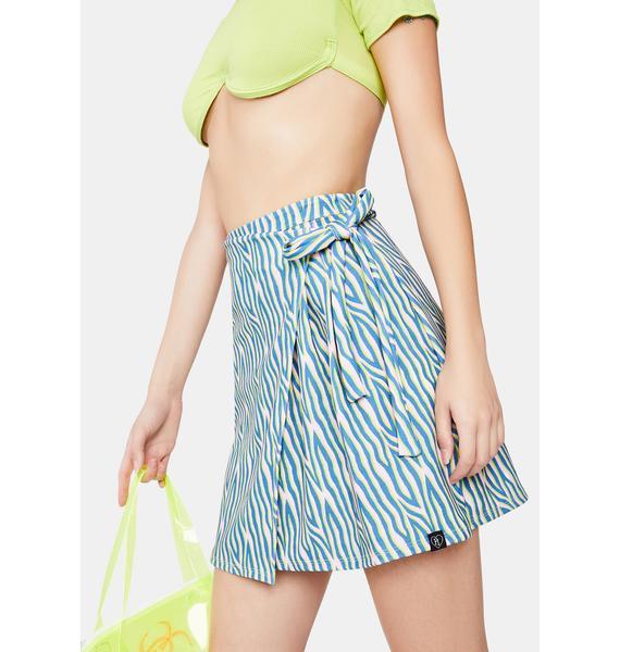 Fearless Illustration Atomic Zebra Mini Skirt