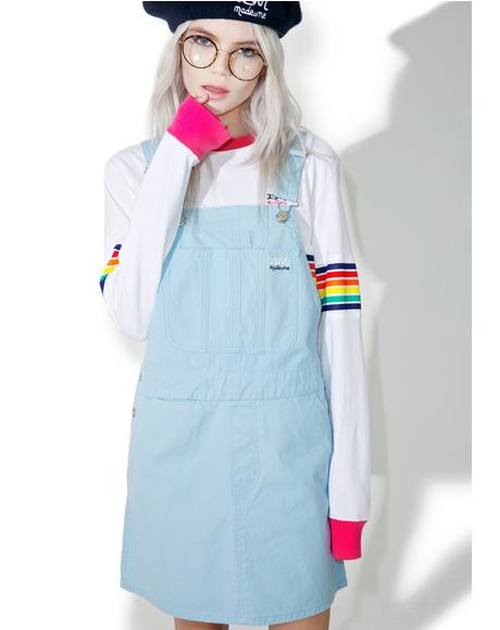 x X-Girl Canvas Overall Dress