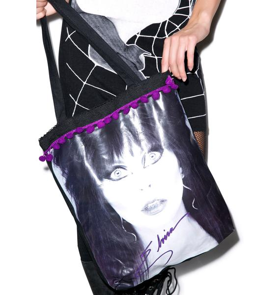 Kreepsville 666 Elvira Glamour Eyes Tote Bag