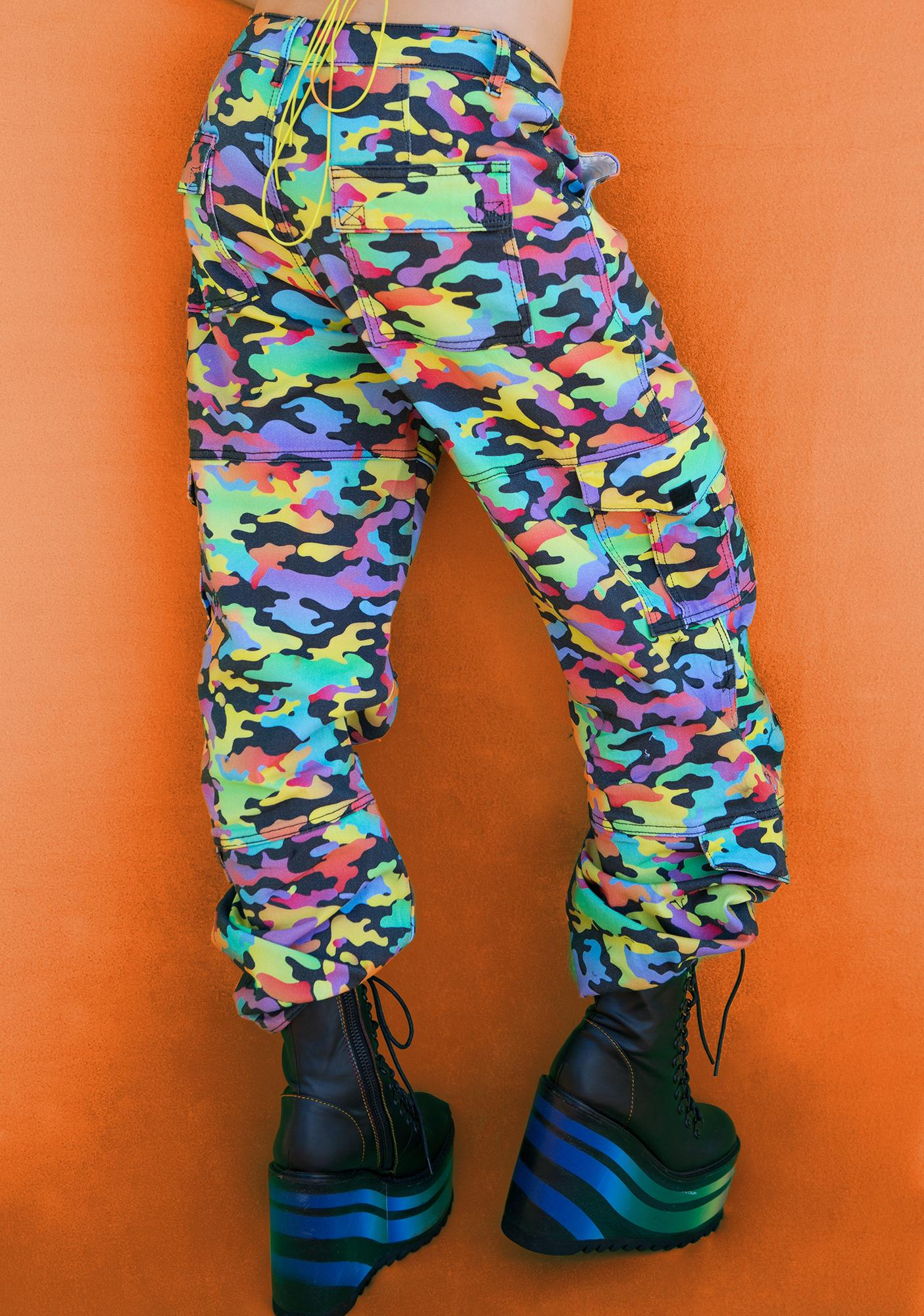 Club Exx Love Is A Battlefield Cargo Pants