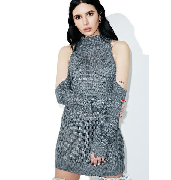 Unfaithful Open Shoulder Sweater