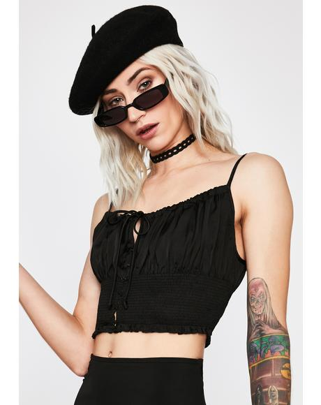 Midnight Done Deal Crop Top