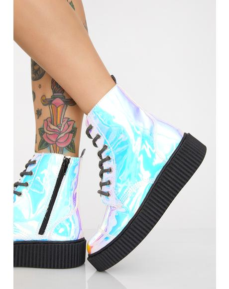Ice Iridescent Casbah Boots
