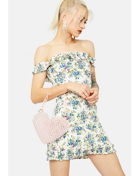 Got Talent Floral Off Shoulder Ruffle Mini Dress