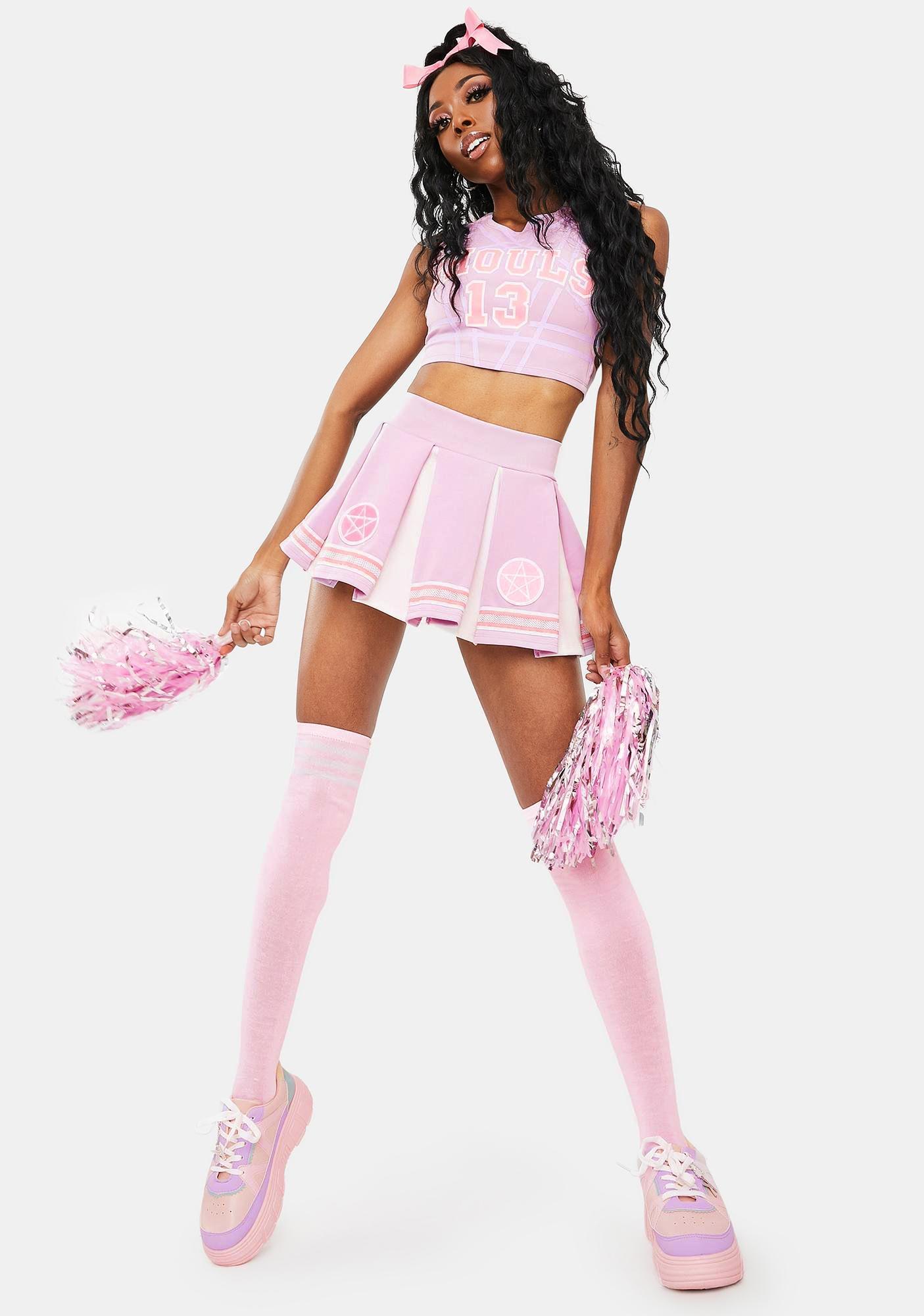 Dolls Kill Team Spirits Pastel Goth Cheerleader Costume