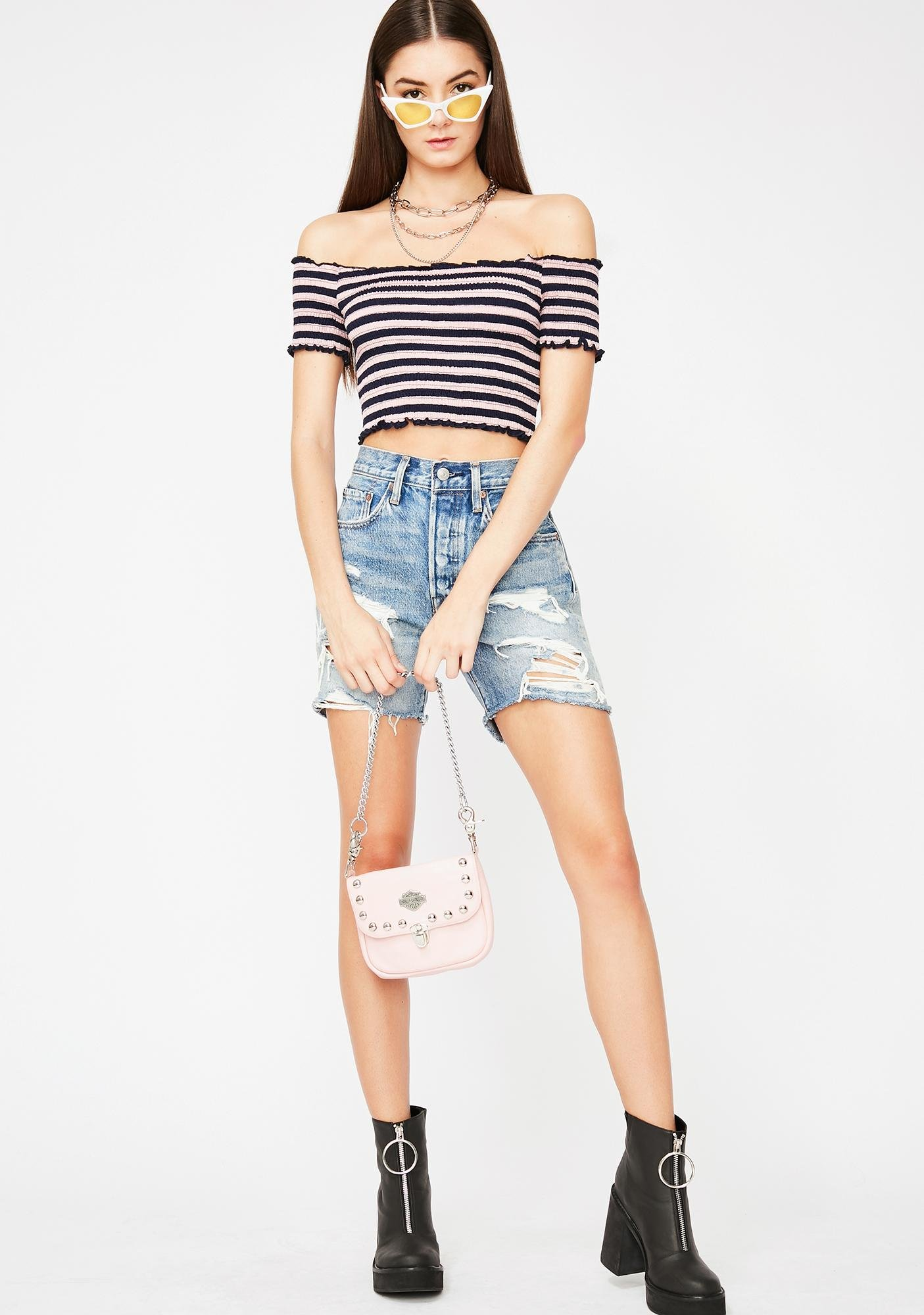 Your Muse Shirred Crop Top