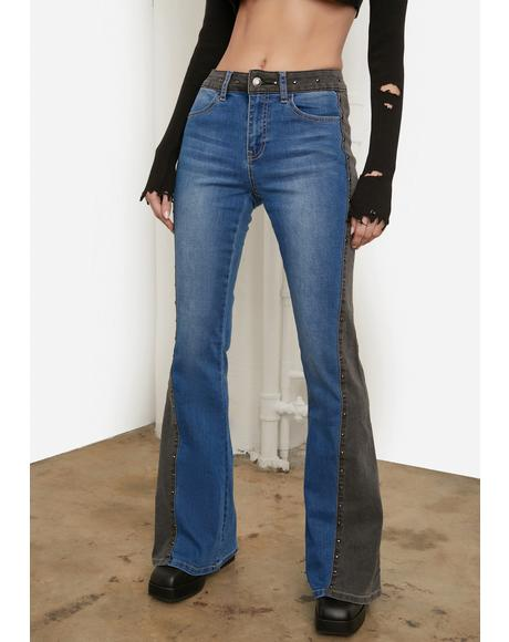 Saddlin' Up Stud Flare Jeans
