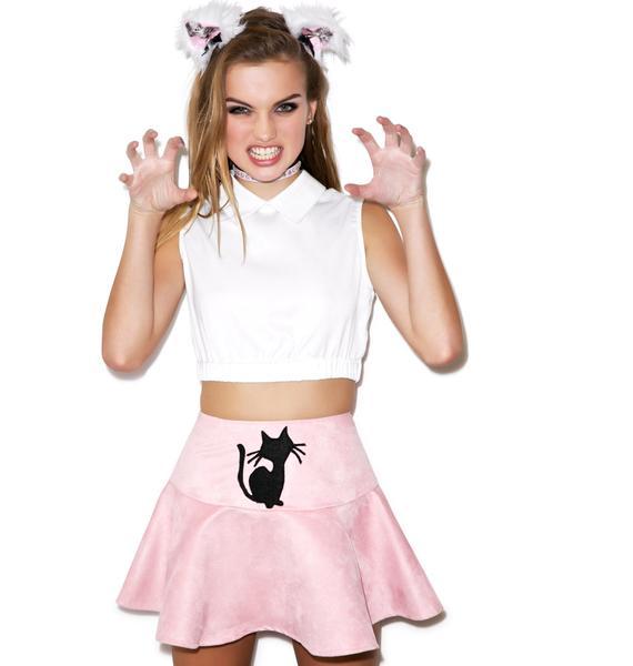 Sassy Cat Flip Skirt