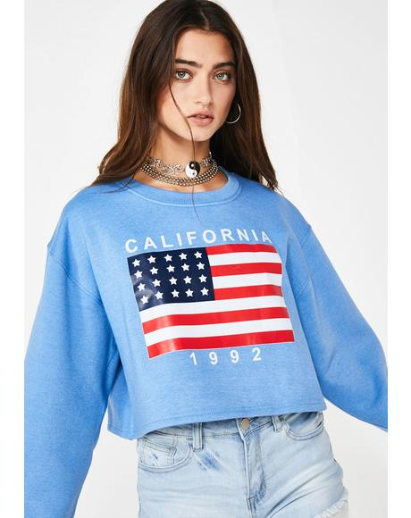 Young American Cropped Sweatshirt
