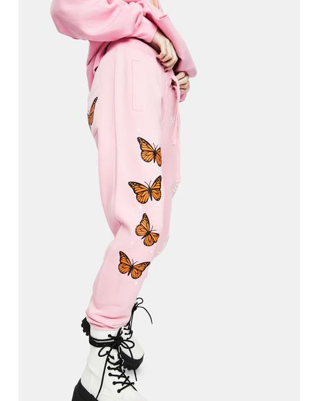 Butterflies Graphic Sweatpants