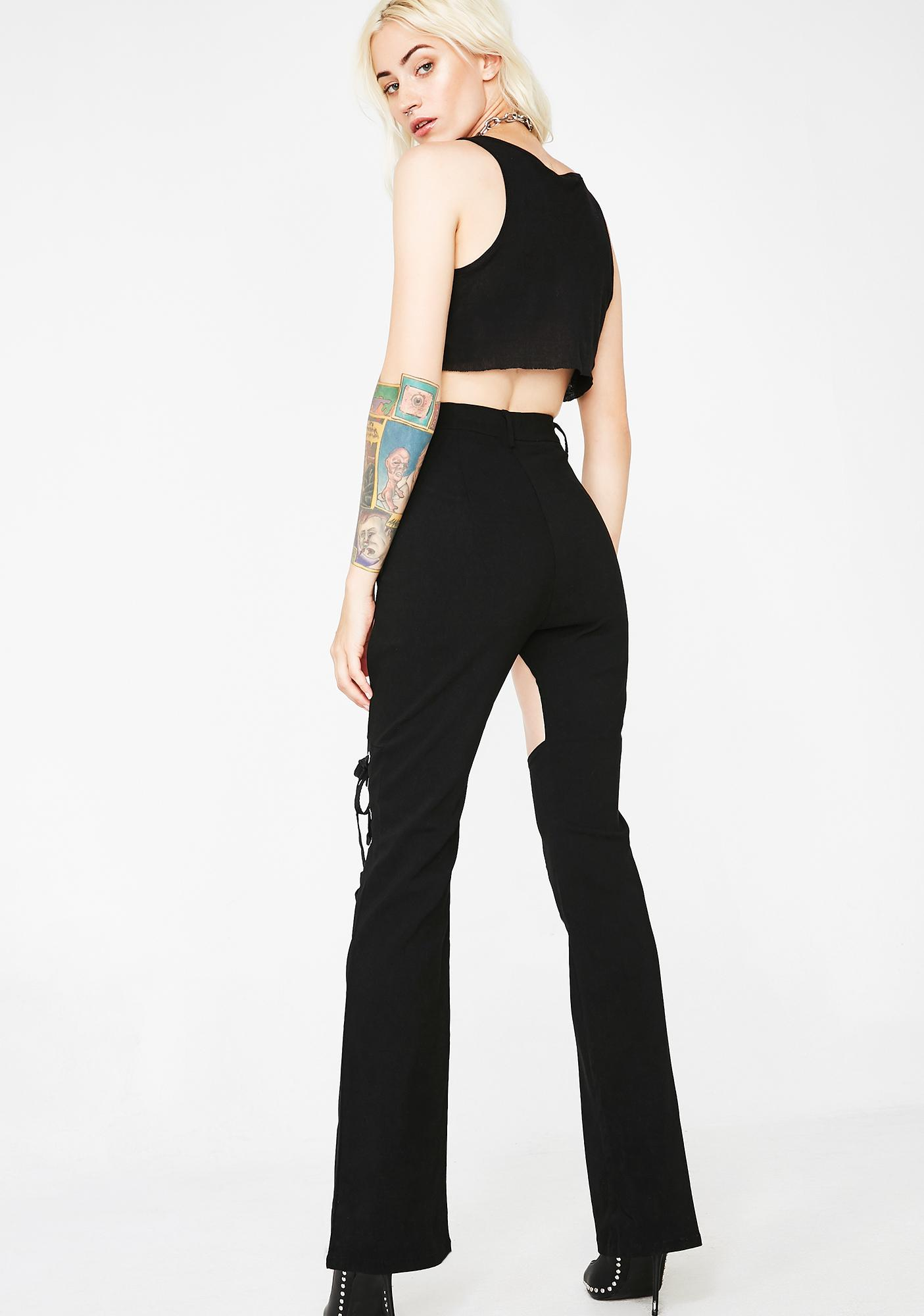Giddy Up N' Go Lace-Up Pants