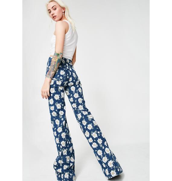 Show Me Your Mumu Hippie Flip Bell Bottom Jeans