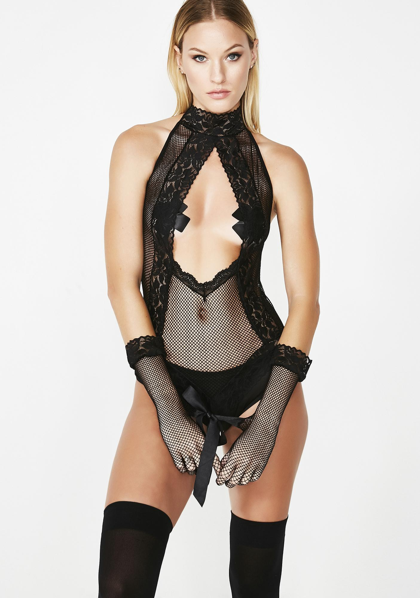 Prisoner Of Love Fishnet Set