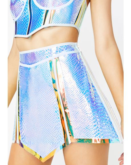 Opulent Empress Hologram Skirt