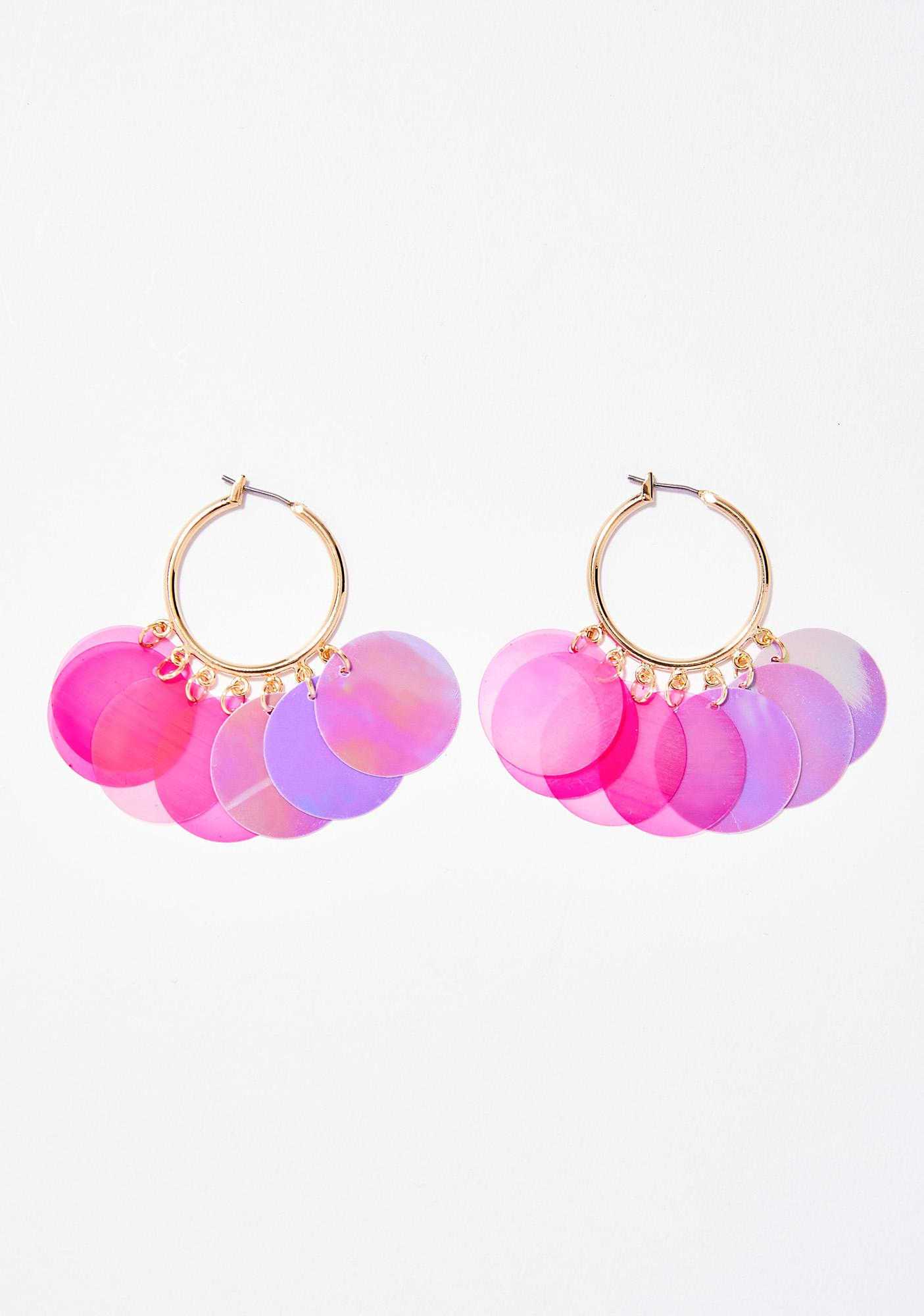 Sweet Celestial Fairy Metallic Earrings