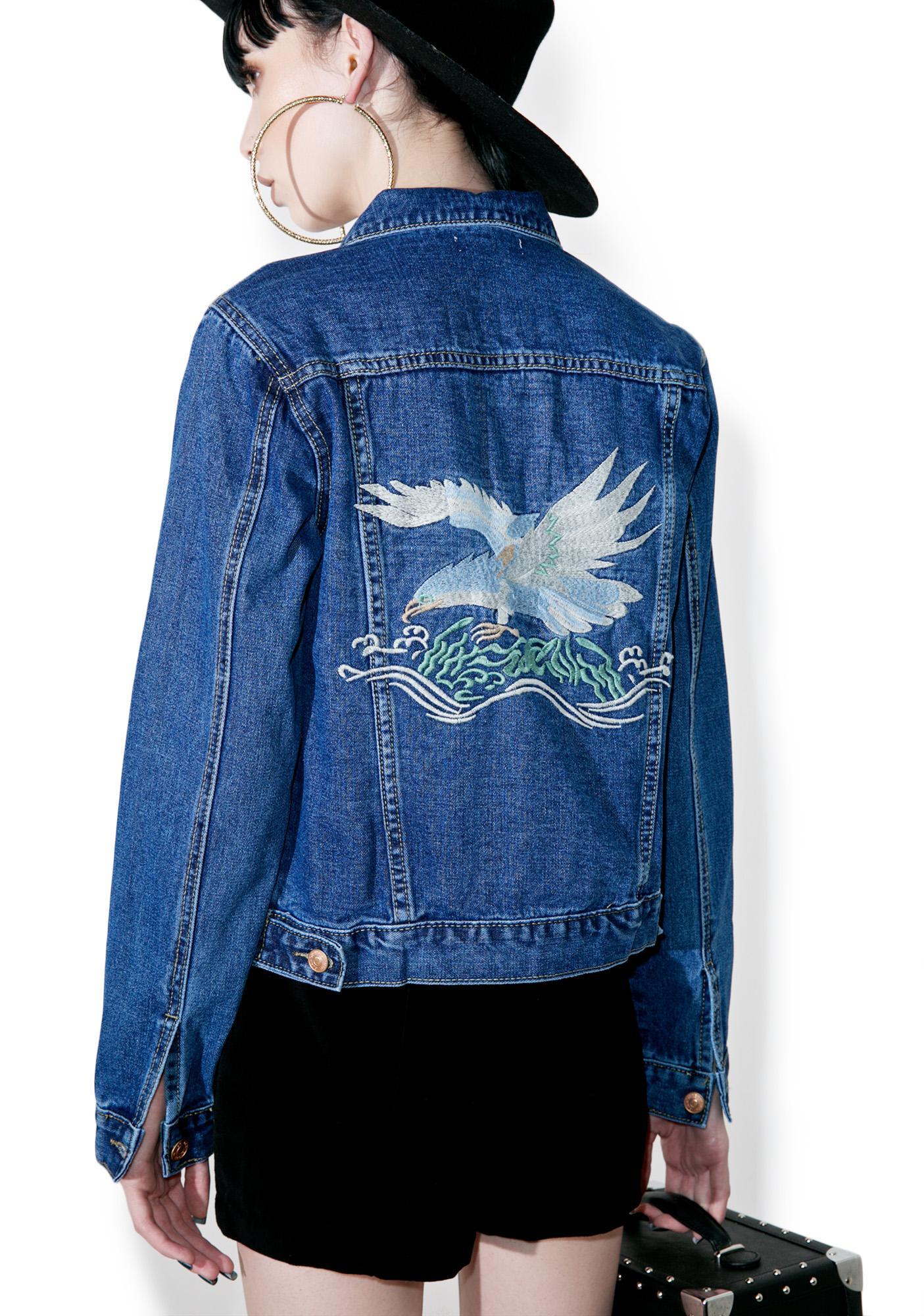 Glamorous Eagle Eyes Denim Jacket