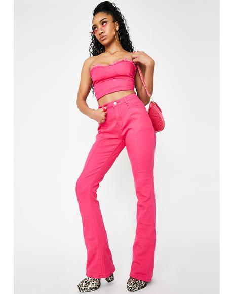 Marissa Hot Pink Bootcut Jeans