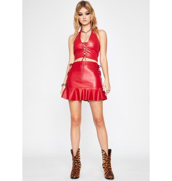 Top Bish Lace Up Skirt