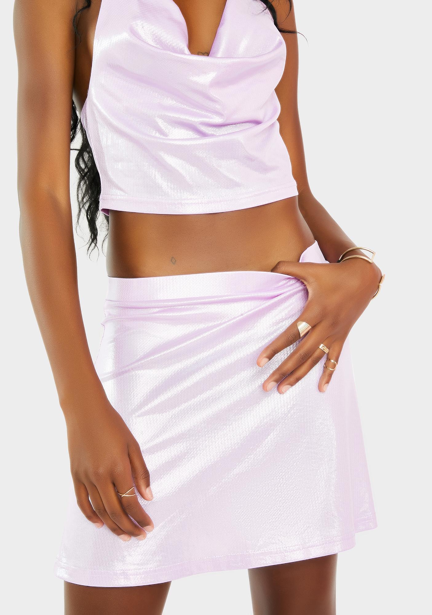 Elsie & Fred Fastlove Lime Lame A-Line Skirt