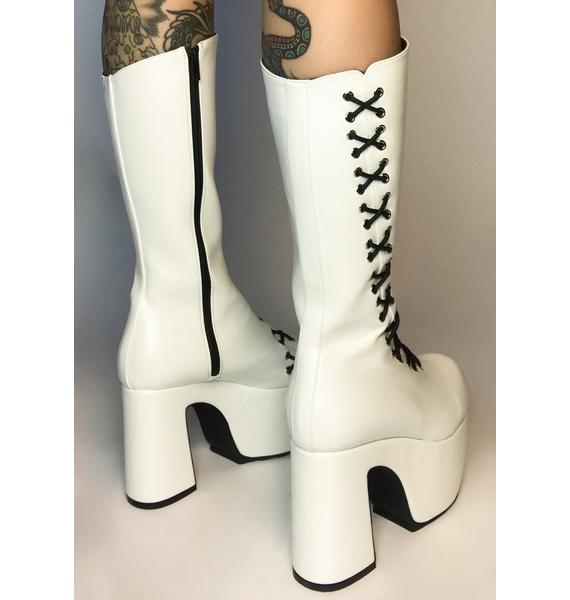 Lamoda Pure New Heights Lace Up Boots