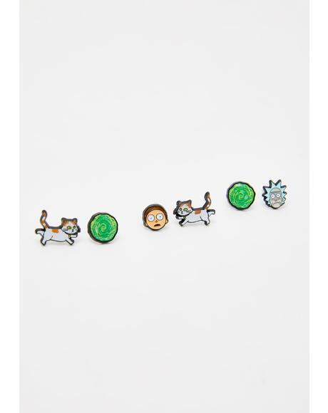 Portal Crew Earrings Set