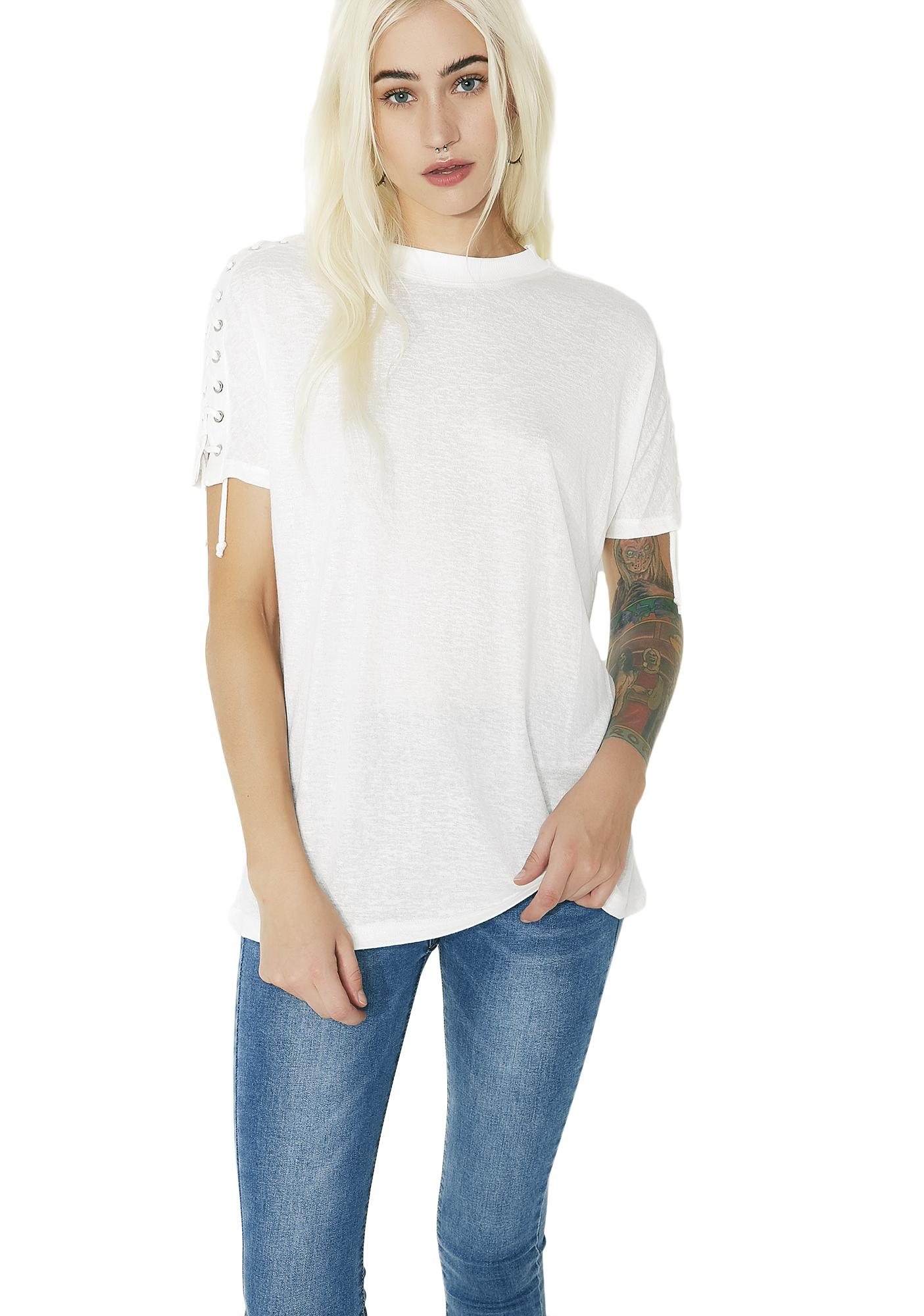 Fade Out Lace-Up Shirt