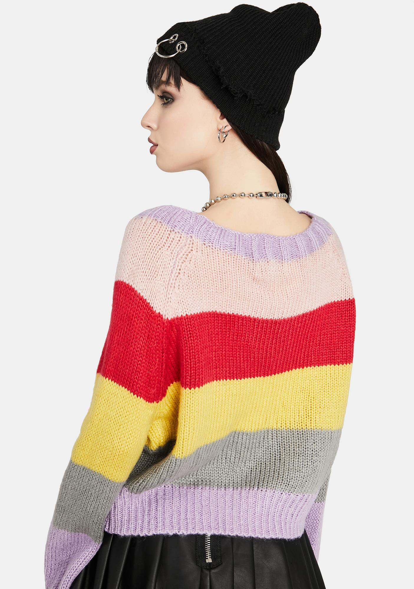 All Grown Up Striped Colorblock Sweater