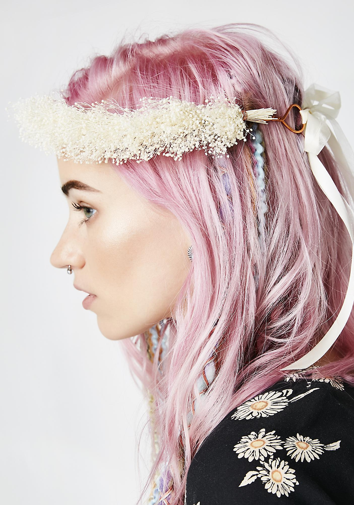 Rock n Rose Honey Dried Gypsophila Flower Crown