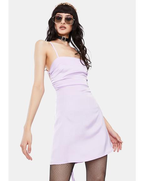 Lavender Cabo Satin Mini Dress
