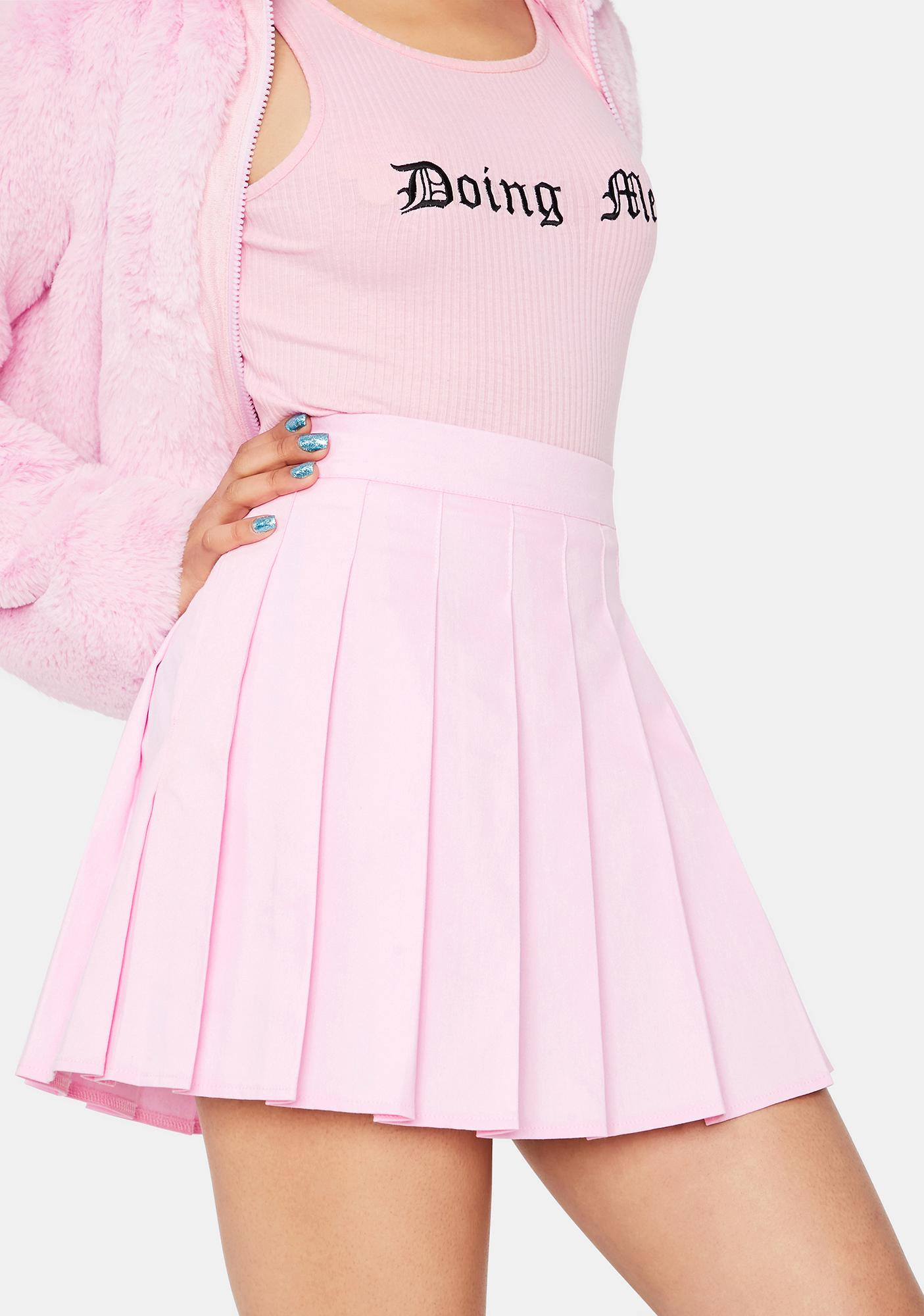 Call Me Up Pleated Skirt