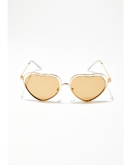 Love Blind Heart Sunglasses