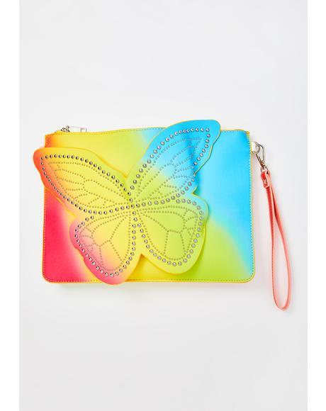 Floating Away Studded Clutch