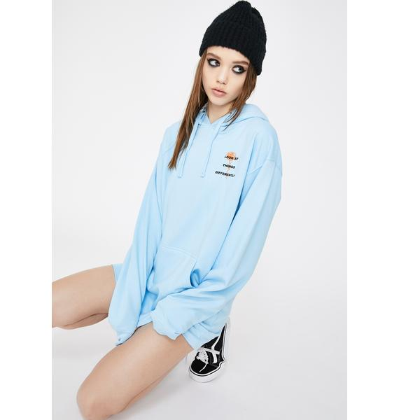 By Samii Ryan Blue Perspective Graphic Hoodie