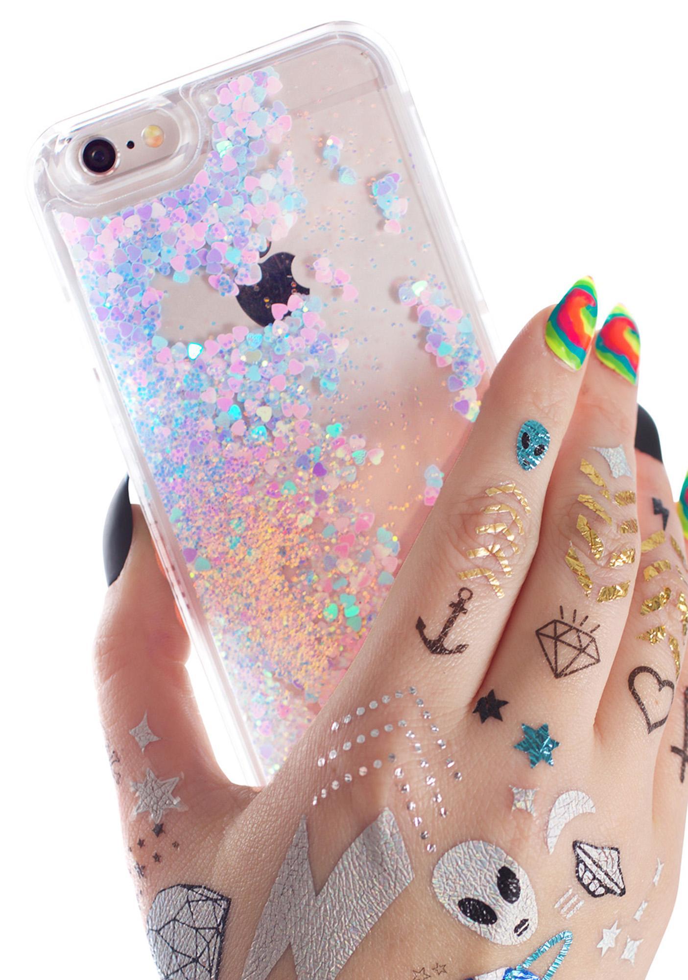 skinny dip iphone 7 case glitter