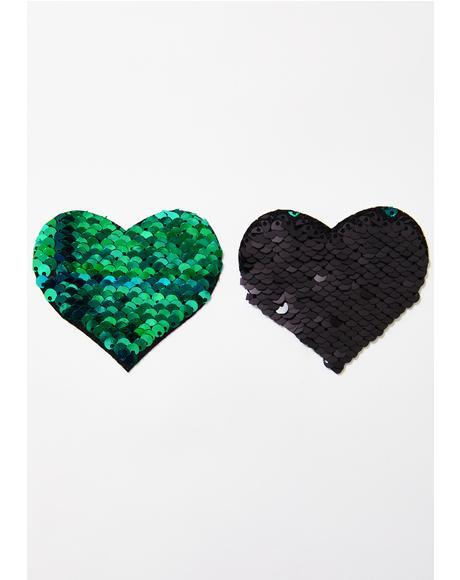 Sequin Heart Pasties