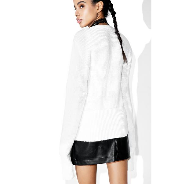 Snow Feelin' Yew Lace Up Sweater