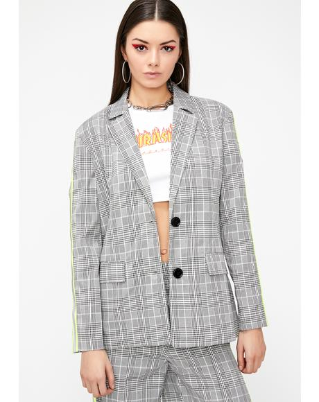 Class Canceled Plaid Blazer